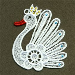 FSL Royal Swan embroidery design