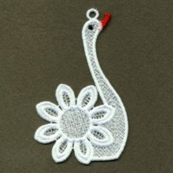 FSL Floral Swan embroidery design