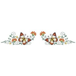 Butterfly Border embroidery design