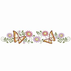 Butterfly Pillowcase embroidery design