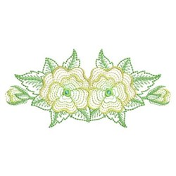 Rippled Floral embroidery design