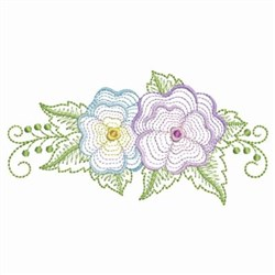 Pansy Florals embroidery design