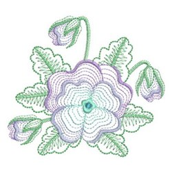 Pansy Blooms embroidery design