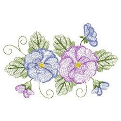 Rippled Phalaenopsis embroidery design