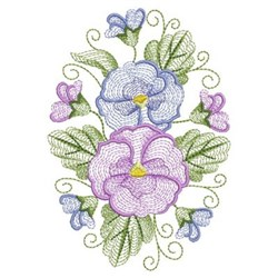 Phalaenopsis Oval embroidery design