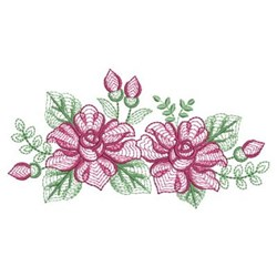 Rippled Roses embroidery design
