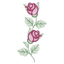 Rippled Rose Buds embroidery design