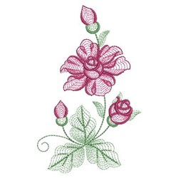 Rippled Rose embroidery design