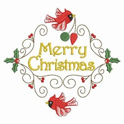 Embroidery Machine Designs Christmas Cardinals