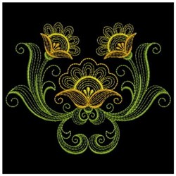 Floral Ripples embroidery design