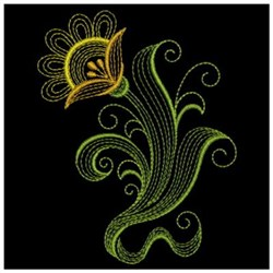 Ripply Floral embroidery design