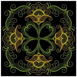 Rippled Flower Block embroidery design