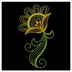 Rippled Bloom embroidery design