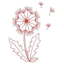 Redwork Dandelion embroidery design