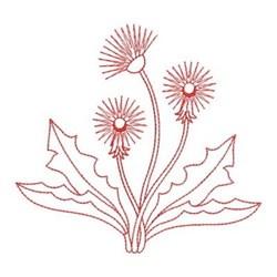 Redwork Dandelions embroidery design