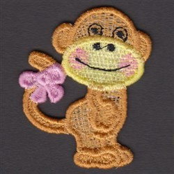FSL Monkey embroidery design