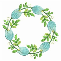 Floral Wreath embroidery design