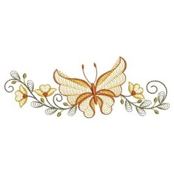 Rippled Butterfly Borders embroidery design