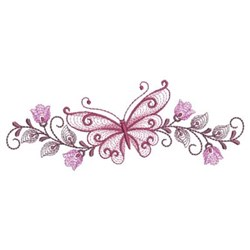 Rippled Butterfly embroidery design