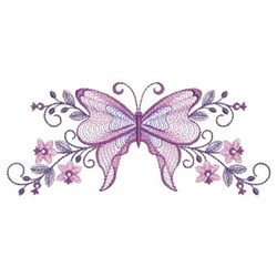 Border Rippled Butterfly embroidery design