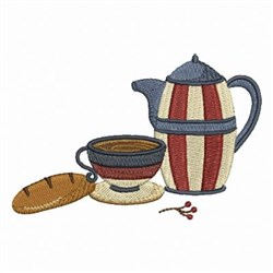 Bread & Coffee  embroidery design