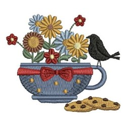 Flowers & Cookies embroidery design