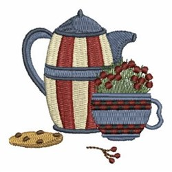 Cookie & Coffee embroidery design