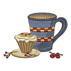 Cupcake & Coffee embroidery design
