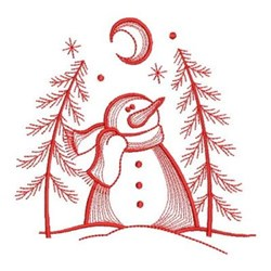 Christmas Tree Snowman embroidery design