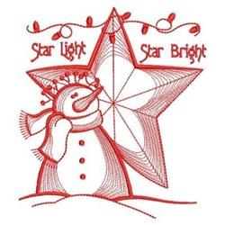 Star Bright Snowman embroidery design