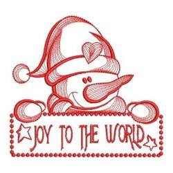 Joy To World Snowman embroidery design