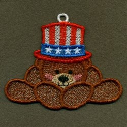 FSL Patriotic Bear embroidery design