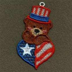 FSL USA Bear embroidery design