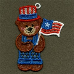 FSL Flag Bears embroidery design
