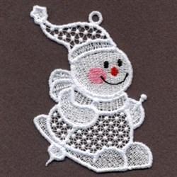 FSL Skiing Snowman embroidery design