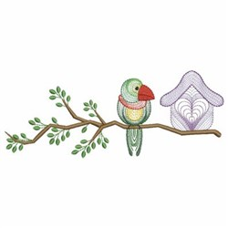 Birdhouse Branch embroidery design
