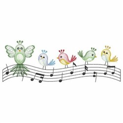 Music Birds embroidery design