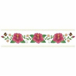 Hibiscus Border embroidery design