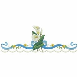 Calla Lily Border embroidery design