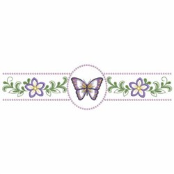Flower Butterfly Border embroidery design