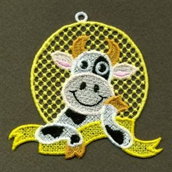 FSL Framed Cow embroidery design