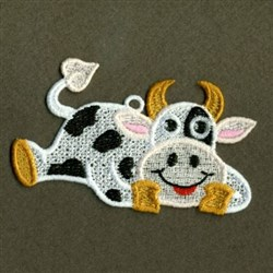 FSL Cow Ornament embroidery design