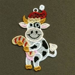 FSL Xmas Cow embroidery design