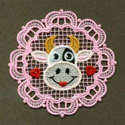 FSL Cow Head embroidery design
