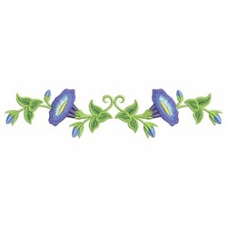 Morning Glory Border embroidery design