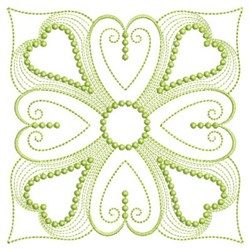 Rippled Heart Block embroidery design