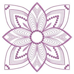 Rippled Flower embroidery design