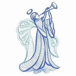 Rippled Trumpet Angel embroidery design