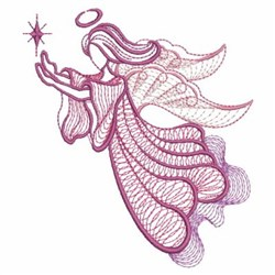 Rippled Star Angels embroidery design