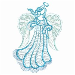 Rippled Blue Angel embroidery design